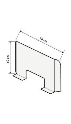 Cloison plexiglass comptoir transparent H60xL68cm