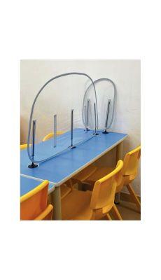 Pack de 10 cloisons de table PVC 106 x 50 cm