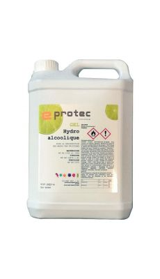 Bidon gel hydroalcoolique citron EN14476 5 litres