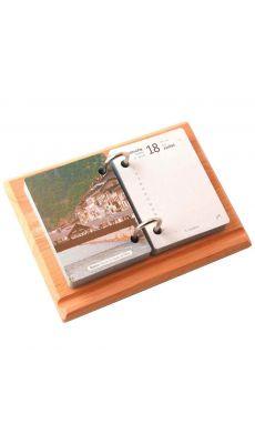 LOCAU - 4900.01 - Socle bois verni 2 anneaux metal