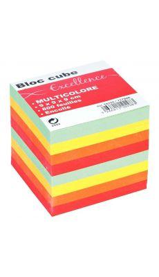 Bloc cube couleur 9x9x7,5 cm