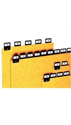 Coutal - G5200 - Intercalaire alphabétique - H100x150 mm - Jeu de 25