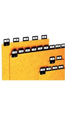 Coutal - G5400 - Intercalaire alphabétique - H148x210 mm - Jeu de 25