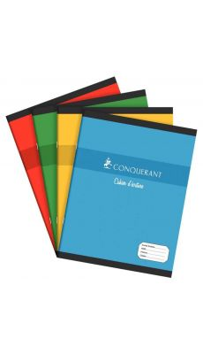 Conquerant - 100 101 205 - Cahier piqûre double ligne 2 mm avec interligne - 17x22 cm - 32 Pages