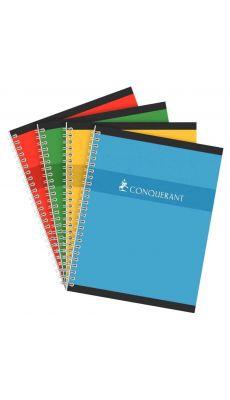 Conquerant - 100 105 079 - Cahier spirale petit carreaux - 17x22 cm - 100 Pages