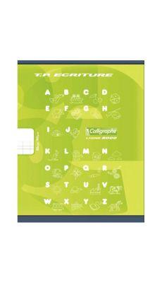 Clairefontaine - 502 - Cahier piqûre double ligne 4mm - 32 Pages - 17x22 cm - Vert