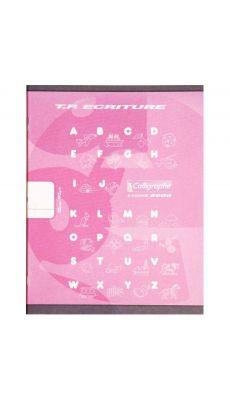 Clairefontaine - 108504 - Cahier piqûre double ligne 18mm - 32 Pages - 17x22 cm - Rose