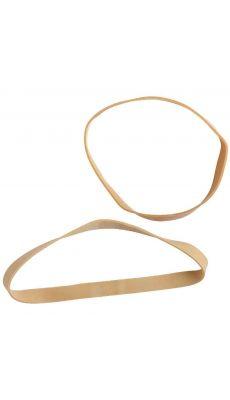 SAFETOOL - Bracelet élastique en caoutchouc blond 120x10mm - Paquet de 1kg