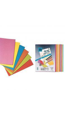 Exacompta - 620ASS - Chemise 210g ROCK'S 220 - Coloris assortis - Paquet de 10