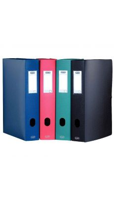 Elba - 98602903 - Boîte de classement en polypropylène - Marine - Dos 60 mm - 24x32 cm