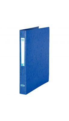 L'OBLIQUE - 100201469 - Classeur 2 anneaux ronds A4 - Dos 25 mm - Carte grainée - Bleu