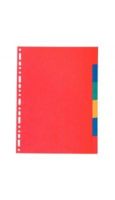Exacompta - 2006 - Intercalaire carte lustrée A4 220g - Jeu de 6