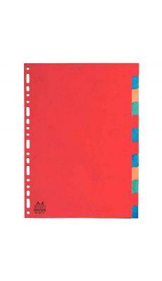 Exacompta - 2012 - Intercalaire carte lustrée A4 220g - Jeu de 12