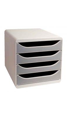 Exacompta - 310041 - Caisson 4 tiroirs Big box - Gris / Gris