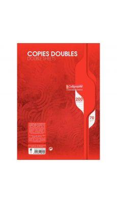 Clairefontaine - 2616 - Copie double petit carreaux non perforée A4 blanc - Paquet de 50