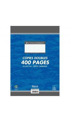 Conquerant - 606 - Copie double non perforée petit carreaux - A4 - Paquet de 100