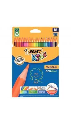 Bic kids - 060970 - Crayon de couleur évolution - Etui de 18
