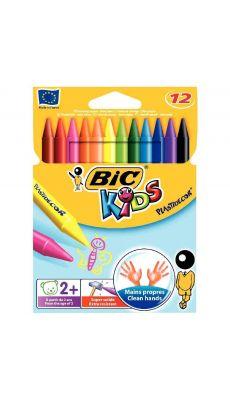 Bic kids - 000341 - Crayon de couleur Plastidécor forme ronde - Pochette de 12