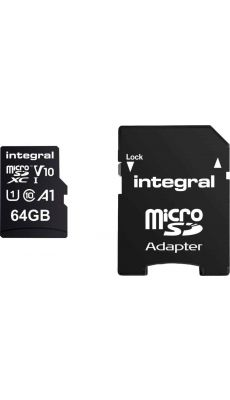 INTEGRAL - INMSDX64G-100 - CARTE MEMOIRE INTEGRAL MICRO SD XC 64GO