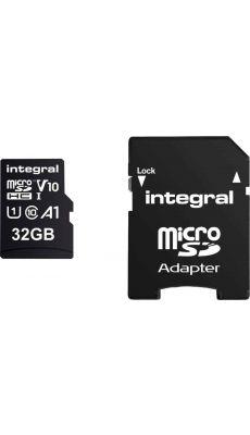 INTEGRAL - INMSDH32G-100 - CARTE MEMOIRE INTEGRALE MICRO SD HC 32GO