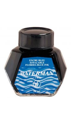 Encre waterman bleu - flacon de 5cl
