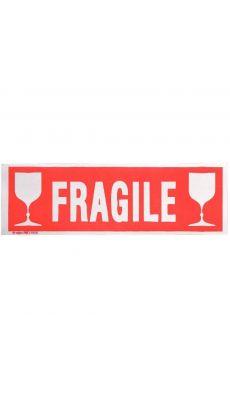 Agipa - 119208 - Etiquette adhésive FRAGILE - Format 190x60 mm  - Sachet de 100