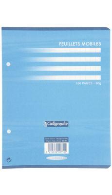 Clairefontaine - 751 - Feuille mobile grand carreaux blanc 17x22 cm - Sachet de 50