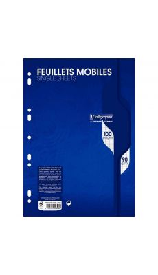 Clairefontaine - 2396 - Feuille mobile grand carreaux blanc A4 - Sachet de 50