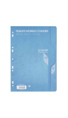 Clairefontaine - 7962 - Feuille mobile grand carreaux bleu A4 - Sachet de 50