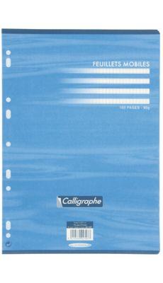 Clairefontaine - 2397 - Feuille mobile petit carreaux blanc A4 - Sachet de 50