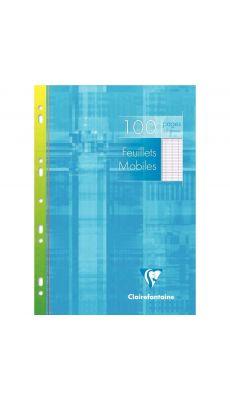 Clairefontaine - 1731 - Feuille mobile grand carreaux blanc A4 - Etui de 50