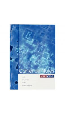 MAJUSCULE - 13769 - Cahier de notes 44 pages format A4 (21 x 29,7 cm)