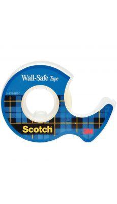SCOTCH - Rouleau d'adhésif invisible scotch wall safe 19 mm x 16,5 m sur dévidoir