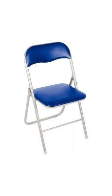 Chaise pliante Juny Bleu - En polyuréthane
