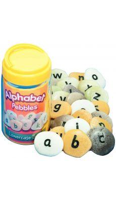 Baril de 26 galets alphabet en minuscule
