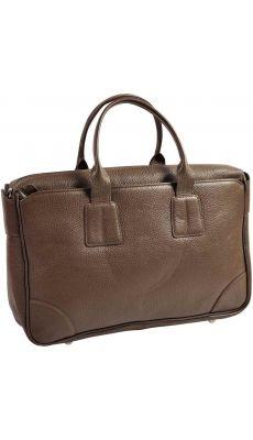 Exacompta - G0502201 - Sacoche en cuir de vachette grainé taupe