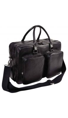 Exacompta - G0502410 - Sacoche goya en cuir de vachette noir