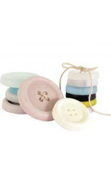 Moules pour savon forme boutons à coudre - Lot de 3