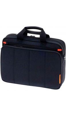 """Sac multifonctions pour ordinateur portable 15,6"""" en textile noir"""