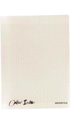Cahier piqure - A4 ( 21x29.7) - seyes - 96 pages - 4 index - couverture polypropylène gris