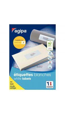 APLI AGIPA - 118984 - Etiquette blanche - 63.5X38.1 mm - Boite de 2100