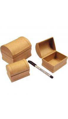 Coffres aux trésors gigogne en carton - Lot de 3