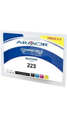 ARMOR - B10388R1 - Cartouche d'encre compatible LC223  ( noir / cyan / magenta / jaune )