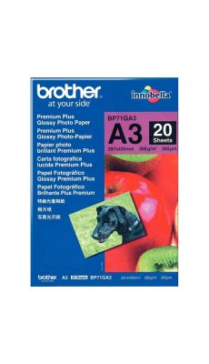 BROTHER - BP71GA3 - Papier photo brillant A3