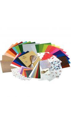 Set atelier papier de Noël contenant 110 pièces
