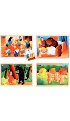 Puzzles les contes n°2 NATHAN - Lot de 4