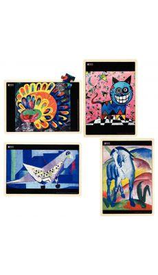Puzzles l'Art et les Animaux NATHAN - Lot de 4