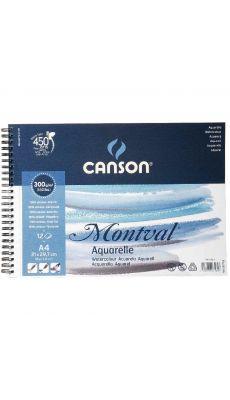 Canson - 807160 - Papier aquarelle 300g A4 - Album de 12