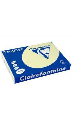 Clairefontaine - 1884 - Ramette papier A3 80g - Canari - 500 Feuilles