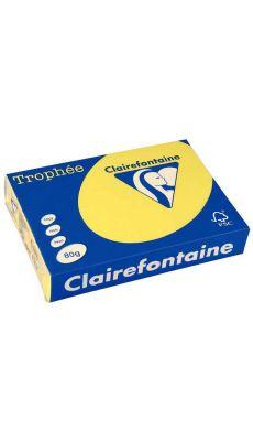 Clairefontaine - 1877 - Ramette papier A4 80g - Jaune - 500 Feuilles